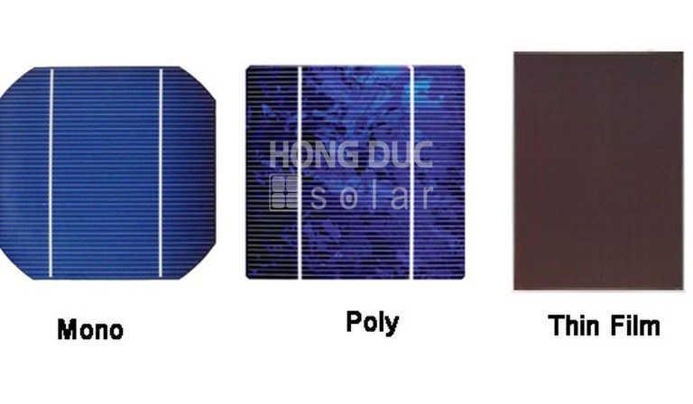 Hình ảnh các loại pin mặt trời phổ biến hiện nay