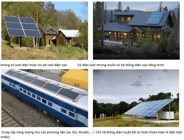 Hệ thống điện mặt trời hòa lưới nên được ứng dụng cho các dự án trên
